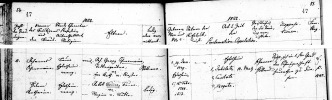 Württemburg Germany Lutheran Marriage Record for Johannes Scheermaier and Helena Katharina Bommer